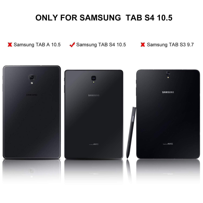 Schutz Folie Samsung Galaxy Tab S4 10.5 T830/t835 Tasche Case HÜlle stift-2