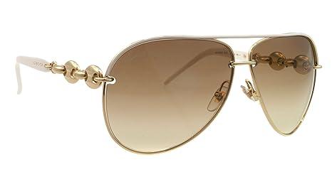 57245fb395d9b2 GUCCI Lunettes de soleil 4225 S 0ADJ Blanc 63MM  Amazon.fr  Vêtements et  accessoires