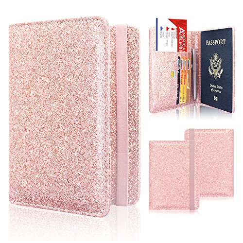 Passport Holder Cover, ACdream Travel Leather RFID Blocking Case Wallet for...