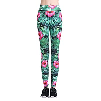Teenager M/ädchen Hoher Bunt Kopf Blumen 3D Druck Push Up Yoga Hosen Sch/ädel Leggins High Waist Skull Sportleggins Jogginghose Training Laufende Fitness Sport Pants Yoga Leggings Damen