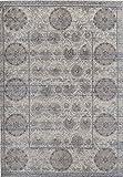 Rugs America BV100B Runner, 2'2'' x 7'6'', Gray Ivory