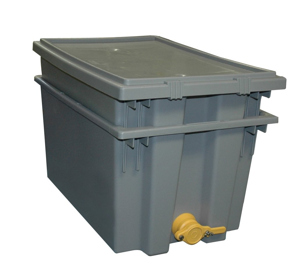 Mann Lake HH231 Plastic Uncapping Tank, Gray by Mann Lake