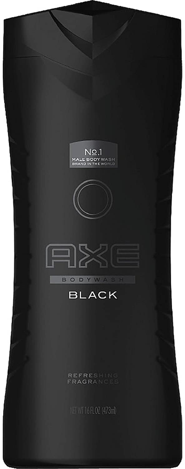 Axe Body Wash, Black 16 oz (Pack of 4)