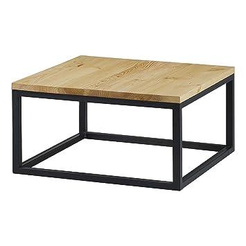 Kleine Couchtisch Quadratisch Fsse Metall Schwarz 60 Cm Kansas Holz 80x80x38