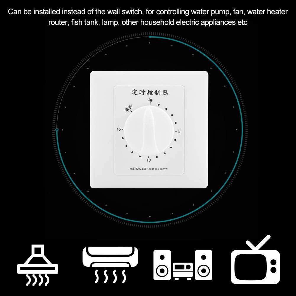 Nannday Minuterie de Pompe /à Eau Commande Intelligente dinterrupteur horaire pour Compte /à rebours m/écanique 220V 1#
