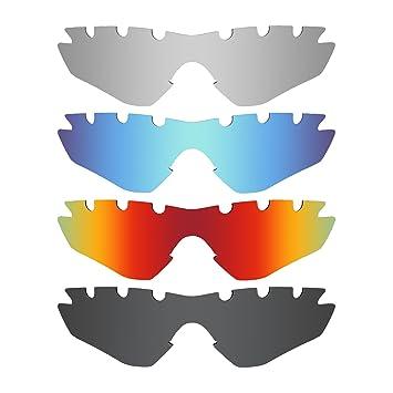 MRY 4 pares polarizadas lentes de repuesto para Oakley M2 Frame con ventilación sunglasses-stealth