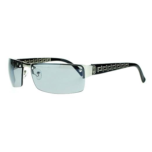 038213eb10 Unisex Narrow Rectangular Rimless Luxury Designer Fashion Sunglasses Black