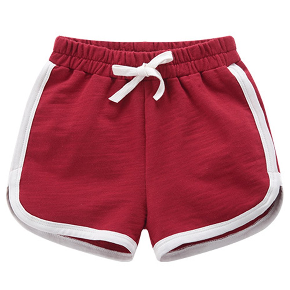 Aulase Little Girls Stretch Cotton Summer Beach Fashion Pull On Active Shorts