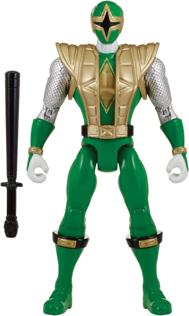 "Power Rangers Super Megaforce - 5"" Ninja Storm Green Samurai Ranger Action Hero"
