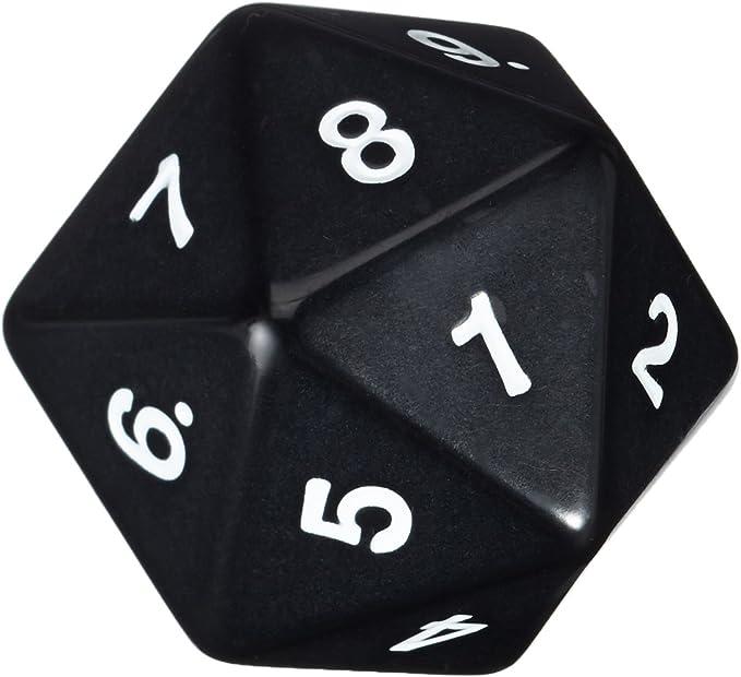 Koplow Juegos 14796 - W20 Cuenta atrás Dados, 55 mm, Negro: Amazon.es: Juguetes y juegos