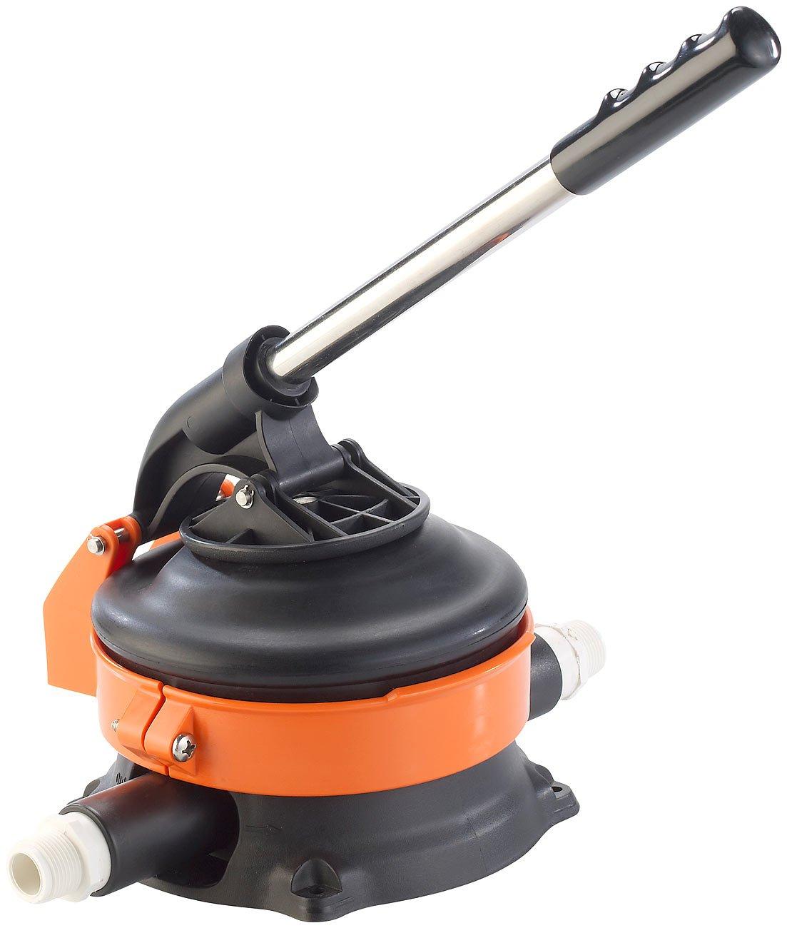 AGT Wasserhandpumpe mit rostfreiem Stahlhebel - AGT Handwasserpumpe