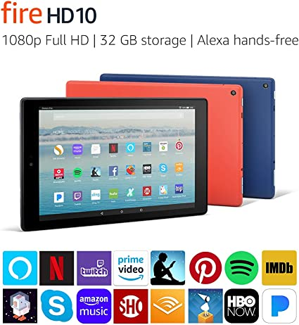 Fire Hd 10 Tablet With Alexa Hands Free 101 1080p Full Hd Display 32 Gb Black Previous Generation 7th