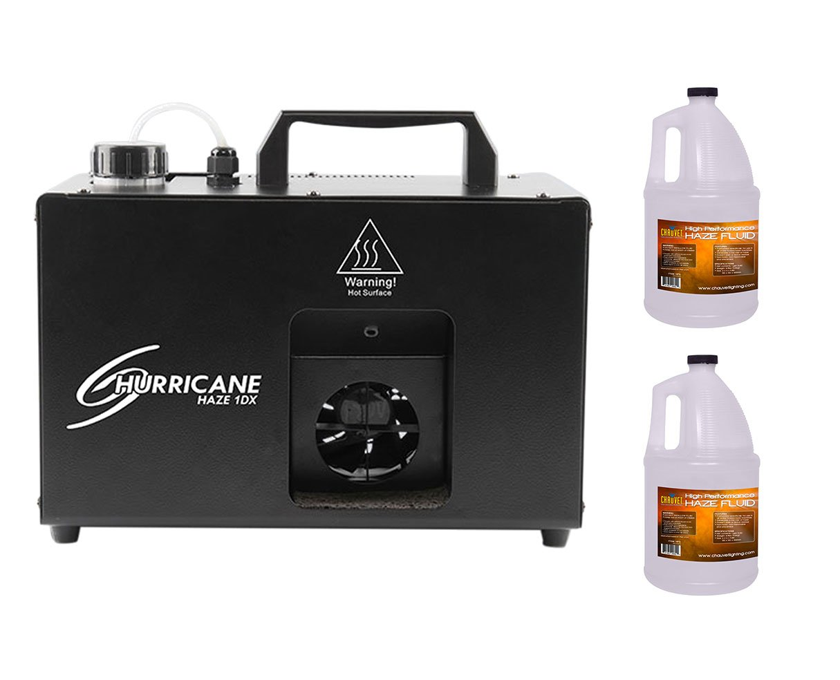 CHAUVET DJ Hurricane Haze 1DX HHAZE1DX Machine +2x Fluid/Juice Gallon