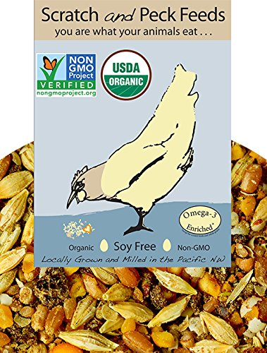 - Naturally Free Organic Layer Feed for Chickens and Ducks, 25lbs, Non-GMO Project Verified, Soy Free and Corn Free