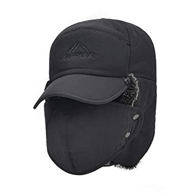 7d29025e9aa Men s Ear Protection Bomber Hats Winter Thicker Plus Velvet Keep Warm Woman  Hat The Cap Ski