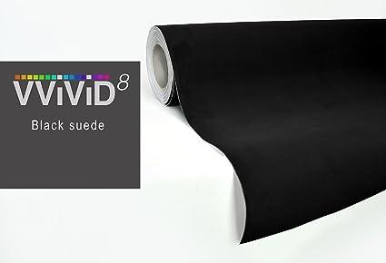 VVIVID Black Felt Matte Suede Vinyl Wrap Sheet Rolls (1ft x 52