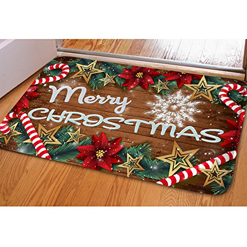 Garden Decor Nutty Rug: HUGS IDEA Merry Christmas Doormat Welcome Door Mat Rug