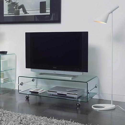 DUGARHOME - Mueble Auxiliar - Mesas de TV - Cristal CT-220: Amazon.es: Hogar