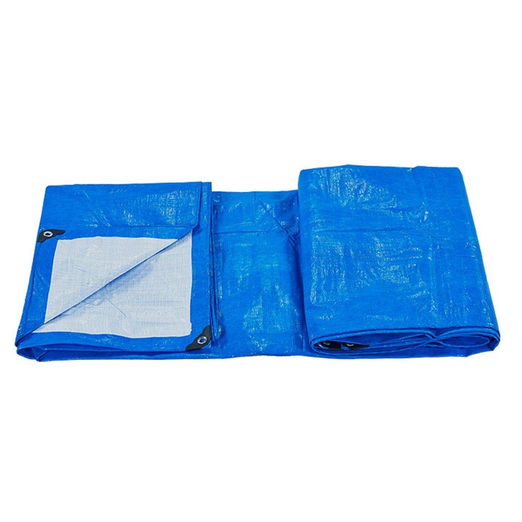 Mehrzweck Plane Planen-Blatt-Tarps Multifunktionsponcho für kampierendes Fischen-im Garten arbeitender Sonnenschutz-Kältewiderstand, Stärke 0.3 Millimeter, 180G   m², 13 Größe vorhanden, blau Schutzp