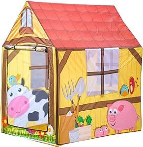 Tienda De Campaña para Niños Al Aire Libre, Casa De Juguete De Casa De Princesa Príncipe De Dibujos Animados Casa De Juguete,C: Amazon.es: Jardín