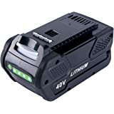 Lasica Replacement for Greenworks 40V Battery 5.0 Ah 29472 29462 Greenworks Battery Compatible with GreenWorks G-MAX 40V Cord