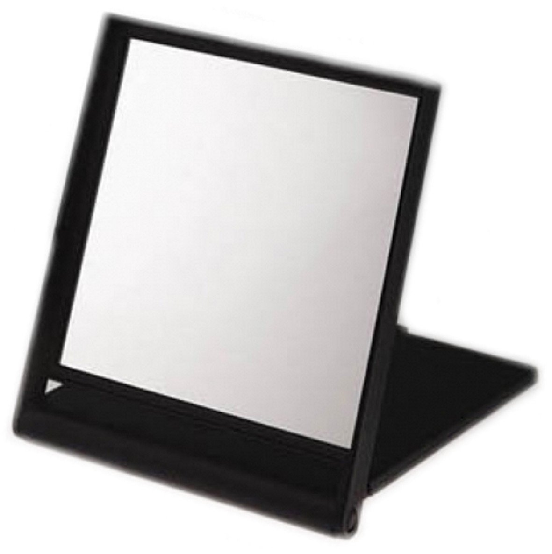 Black Travel Mirror x 3 Magnification 17cm x 14.5cm x 1.5cm by FMG Mirrors