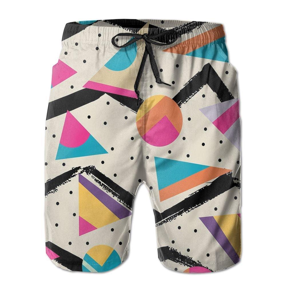 Too Suffering Eighties Memphis Fashion Style Summer Quick-Drying Swim Trunks Beach Shorts Board Shorts