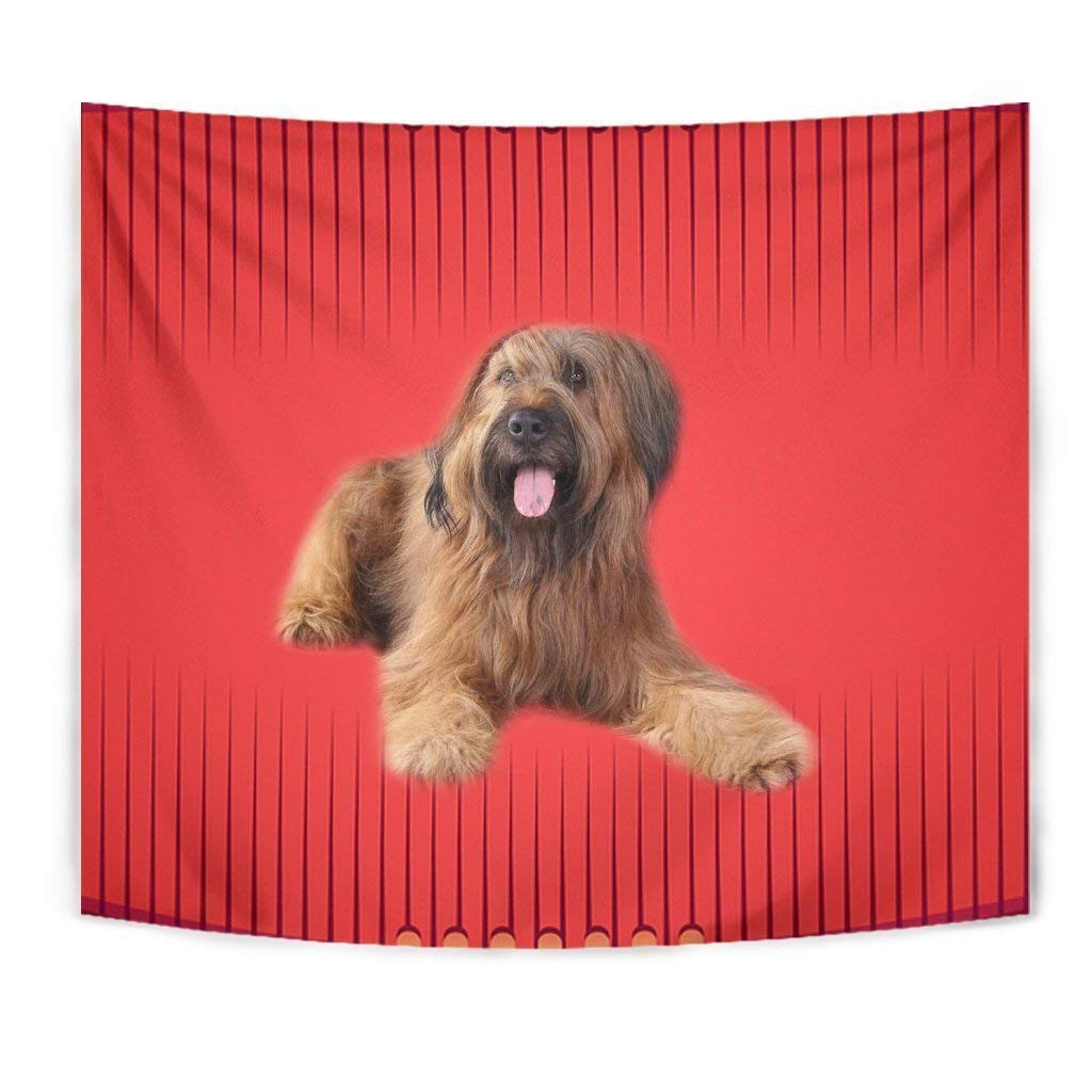 Briard Dog Print Tapestry by Paws With Attitude