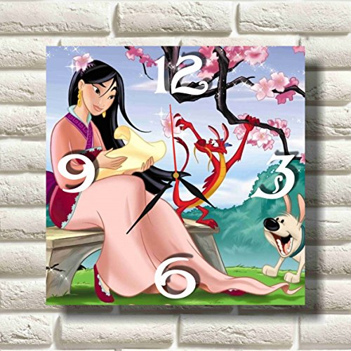 Mulan 11.8'' Handmade MAGIC WALL CLOCK FOR DISNEY FANS made of acrylic glass - Get unique décor for home or office – Best gift ideas for kids, friends, parents and your soul mates