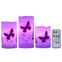 Candles Set of 3 Flameless 4