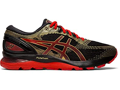 eaf7975ebb8a Image Unavailable. Image not available for. Color: ASICS Men's Gel-Nimbus  21 Running Shoes, 9M, Black/Classic RED