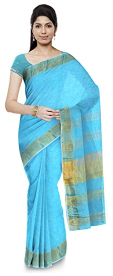 Buy Asif Saree House Pure Linen Handloom Saree for Women