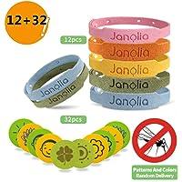 Janolia Repelentes de Mosquitos, 12 Pulseras Antimosquitos &