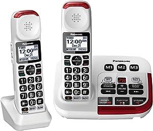 Panasonic KX-TGM420W + (1) KX-TGMA44W Amplified Cordless Phone with Digital Answering Machine and Voice Volume Booster upto 40 dB (2 Handsets)