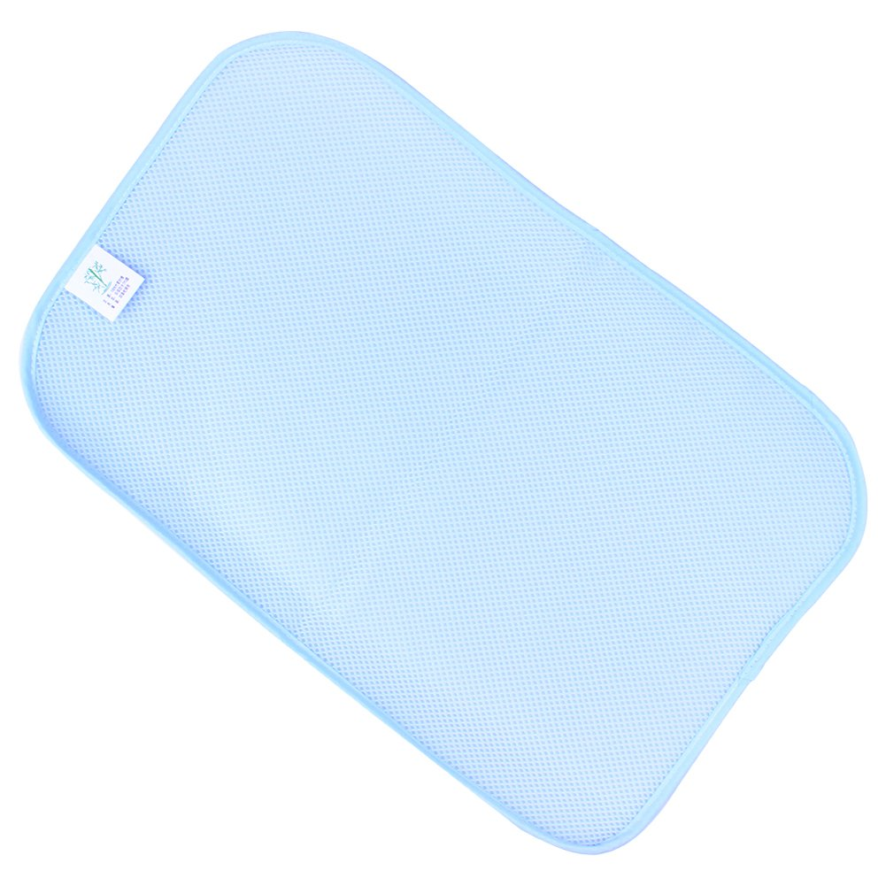 Samber Baby Urine Pad Bamboo Fiber Mattress Incontinence Protection Pad Ultra Waterproof Bed Pad Three-Layer Menstrual Period Care Pad for Babies Children Women(Blue/S)