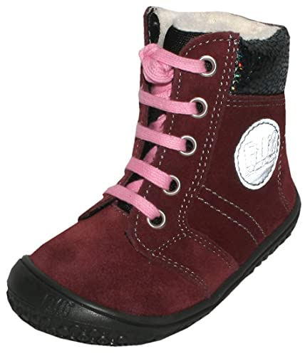 0a6e13ab7a2ca5 Filii Barefoot Winterstiefel mit TEX Membran   Wollfutter in Berry   Everest  Veloursleder 18921 (