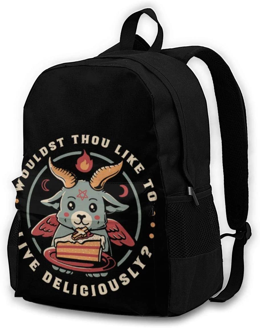 Wouldst Thou Like to Live Deliciously Casual Backpack Waterproof Laptop Backpack for Men Women Daypack