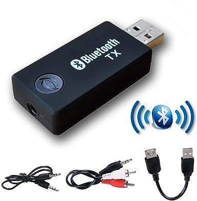 YETOR Transmisor Bluetooth de 3,5 mm para TV, Bluetooth, para PC ...