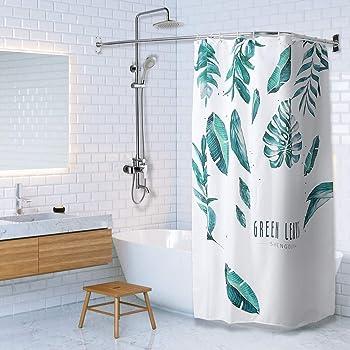 PrettyHome L Shapaed Bathroom Bathtub Corner Shower Curtain Rod