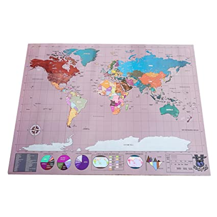 Slb works 58x83cm large travel scrape off art world map poster decor slb works 58x83cm large travel scrape off art world map poster decor gumiabroncs Images