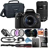 Canon EOS Rebel T6i 24.2MP Digital SLR Camera Retail Packaging Accessory Bundle (18-55mm & 55-250mm Premium Bundle)