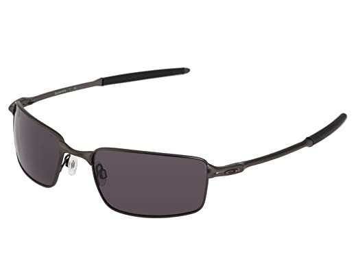 oakley mens square wire sunglasses pewter framegrey lens