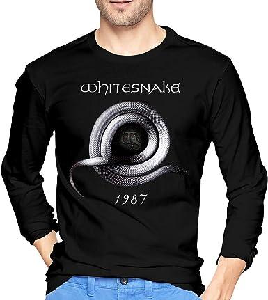 Camiseta de Manga Larga de algodón Whitesnake 1987 para Hombre, Negra: Amazon.es: Ropa y accesorios