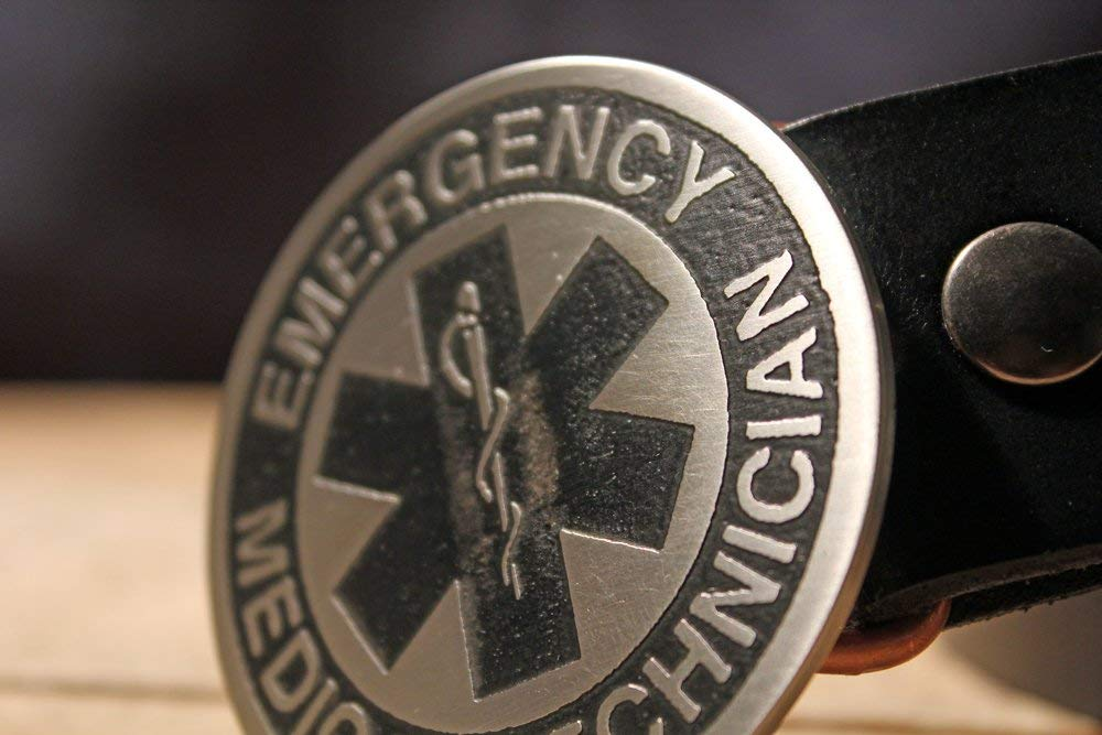 9mm Paramedic Belt buckle unique solid and Stout Polished brass bronze and stainless steel