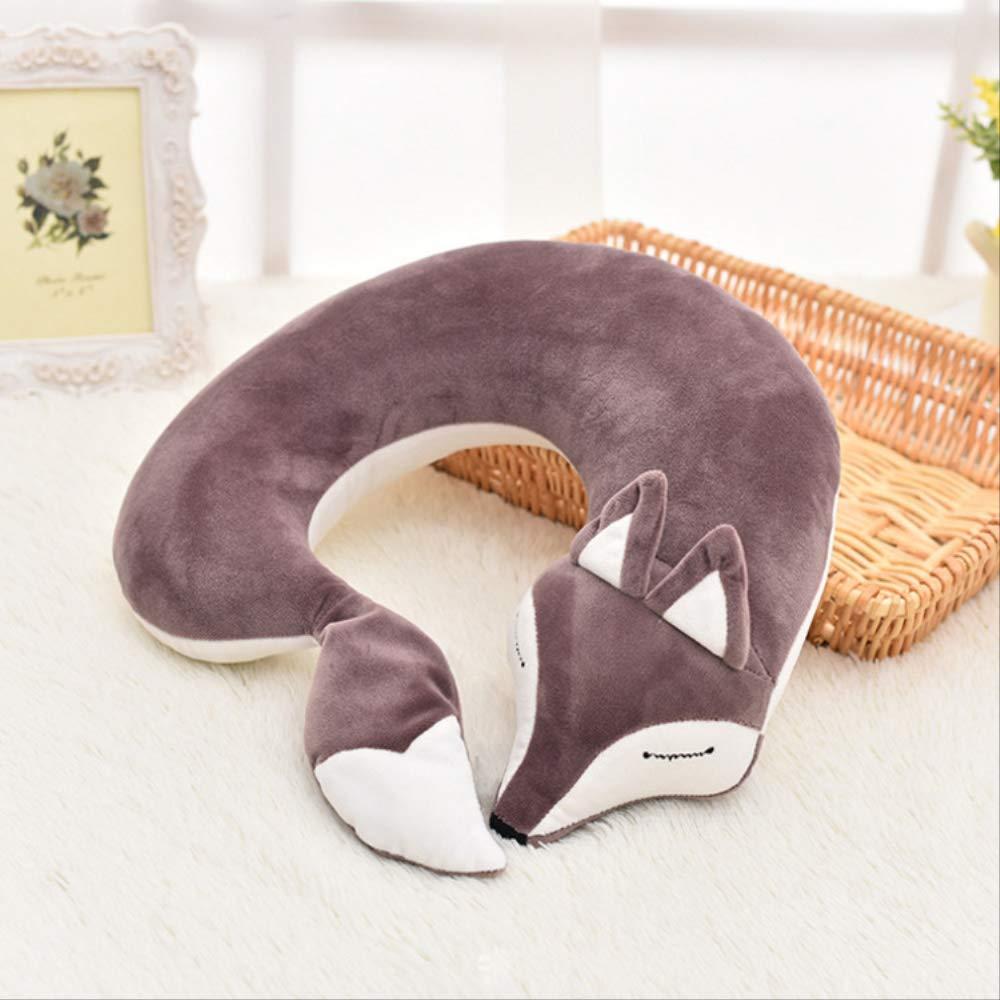 WZ YDTH Hazy Beauty Fox Animal Cotton Plush U-Shaped Neck Pillow Travel Pillow by WZ YDTH