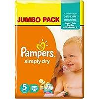 Pampers Simply Dry Junior, Taglia 5 (11-25 Kg) - 132 Pannolini