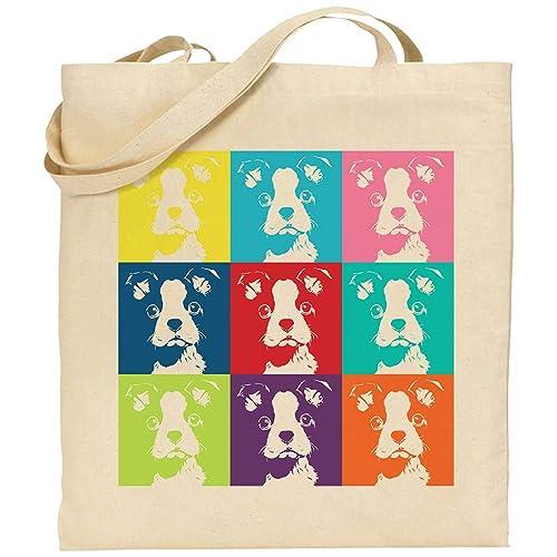 Bolsa algodón perro cachorros personalizable tote bag: Amazon.es ...