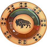 Southwest Buffalo Dinner Plate in Black Hills Gold glaze