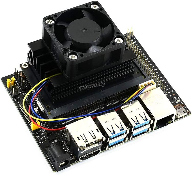 Fan-4020-PWM-5V XYGStudy Dedicated Cooling Fan Strong Cooling Air 5V PWM Speed Adjustment 4PIN Reverse-Proof Connector for Jetson Nano Developer Kit