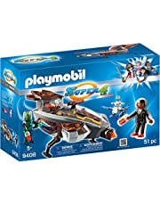 Playmobil 9408 Super 4 Sykronian Space Glider with Gene Playset (51 Pieces)